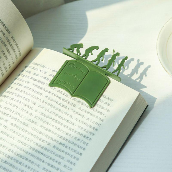 best selling Creative Theory of Evolution Bookmark 3D Silicone Reading Book Holder Stationery