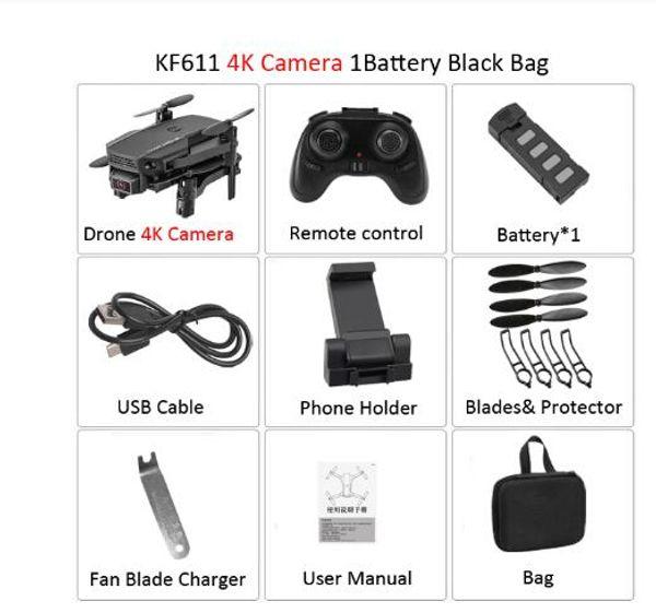 مع حزمة السوداء 4K كاميرا