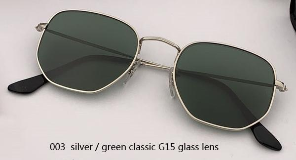 003 silver/green classic G15 lens