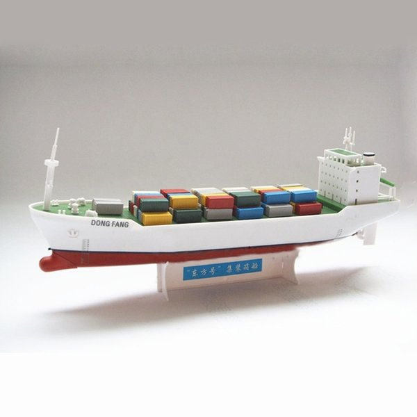 top popular Oriental Electric Powered Container Ships Assembly Model Kits DIY Educational Toys Learn Ship Structure Children Gifts Y200428 2021