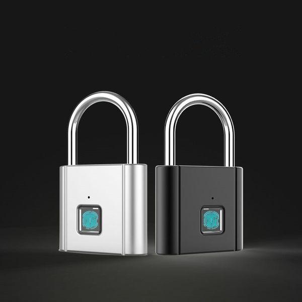 top popular New Fingerprint Lock Fingerprint Lock Intelligent Keyless IP65 Dustproof Design Anti-Theft Water Proof Door Lock Padlock Bad In Drop Shpping 2021