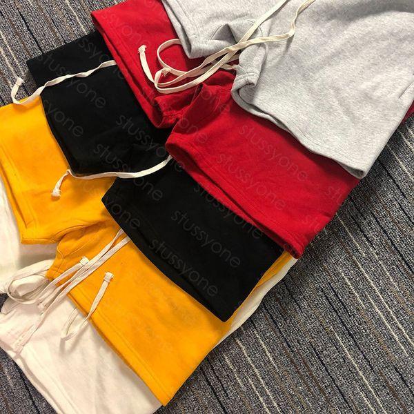 top popular Mens short pants High Street Drawstring Pant Elastic Waist Outdoor Fitness Sport Short Pants Casual Breathable Shorts 6 color 2021