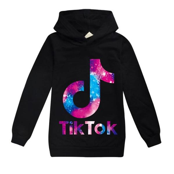 best selling Spring Fall Tiktok Sweatshirt for Big Boy Girl Clothes Fashion Children Hooded Print Cotton Hoodies Kid Tik Tok Casual Sport T Shirt Cloth