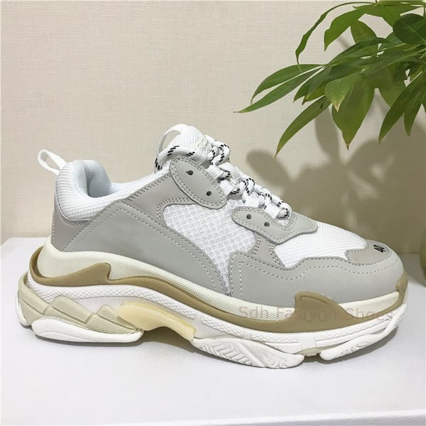 best selling Top Quality Men Women White Black Pink Triple S Low Make Old Sneaker Combination Soles Boots Mens Womens Shoes Sports Casual Shoe Size 36-45