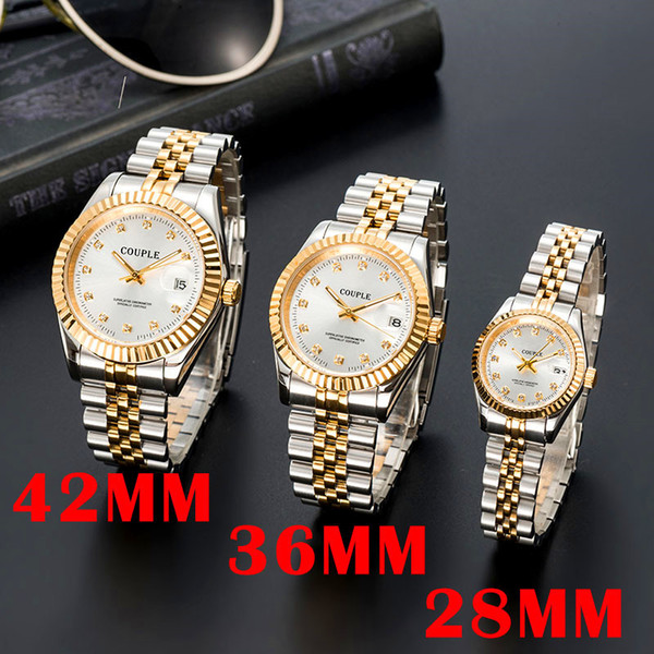 best selling orologio di lusso mens automatic gold watch women dress full Stainless steel Sapphire waterproof Luminous Couples Style Classic Wristwatches