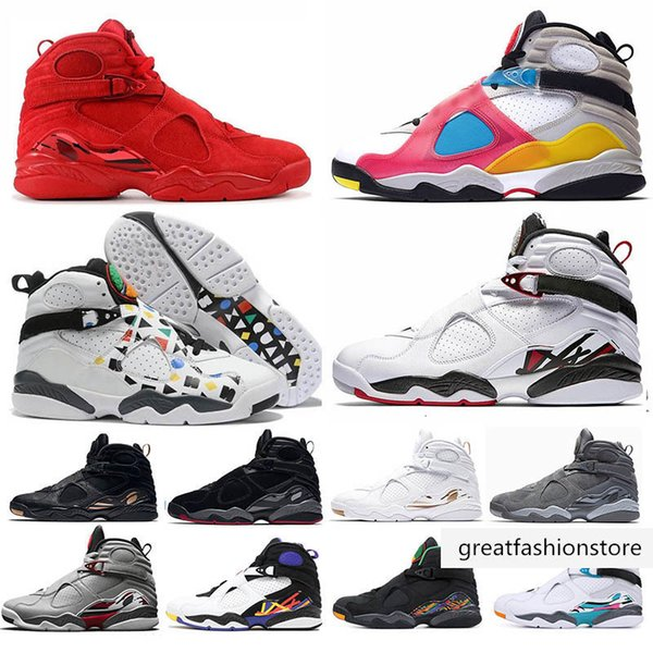 best selling 8 8s men basketball shoes SP SE Multi-Color Valentines day Three Peat SOUTH BEACH Reflective Bugs Bunny RAID Playoff sport sneakers
