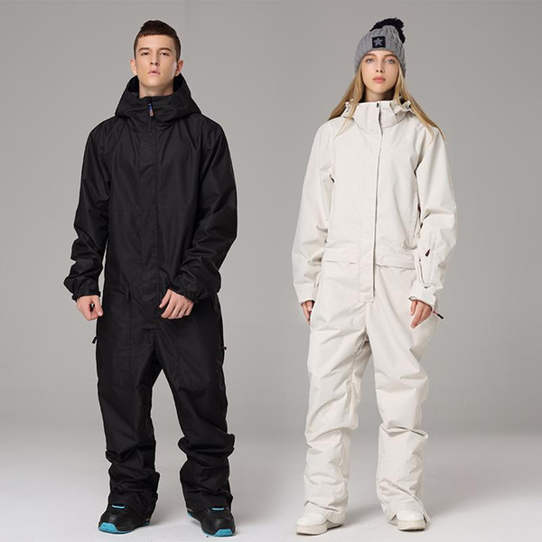 top popular New Jumpsuit Snowboard Waterproof Outerwear High Quality Mountain Snow Men And Women Skiing Jackets +Pants Outdoor Ski Suits 2021