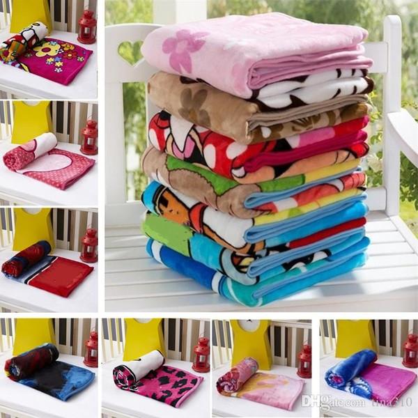 best selling Hot Kids Blankets Flannel duck Cat dogs bear styles Warm cartoon Blankets Smooth Flannel Blankets Baby Bedding Swaddling Blanket 100*140cm