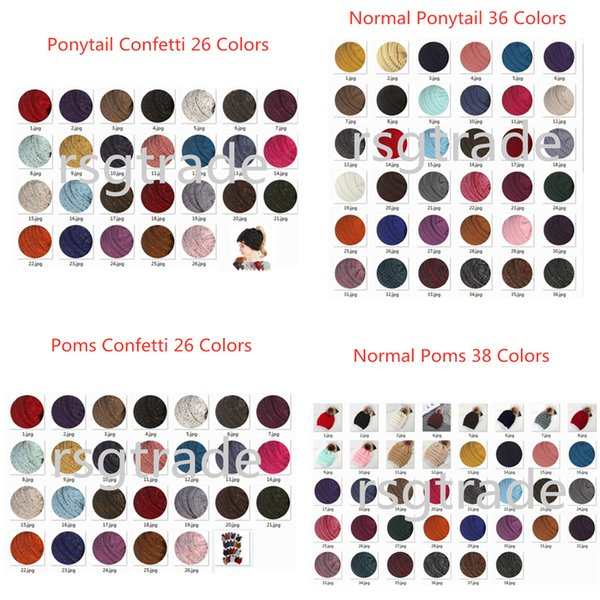 best selling Free DHL 36 Colors Designer Knitted CC Beanies Man Woman Sport Winter Warm CC Headbands Hair Accessories Boho Fascinator Hat Headpieces