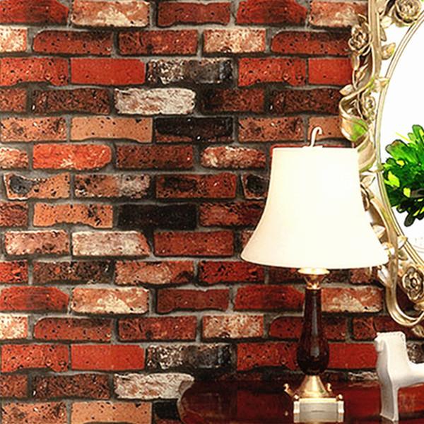 top popular Modern Stacked brick 3d stone wallpaper roll grey brick wallpaper wall background wallpaper for living room pvc vinyl wall paper 2021