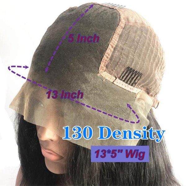 130 Densité 13x5 avant de dentelle perruque