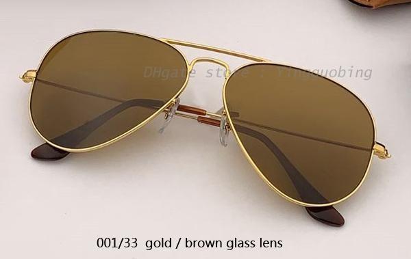 001/33 الذهب / عدسة براون كلاسيكية