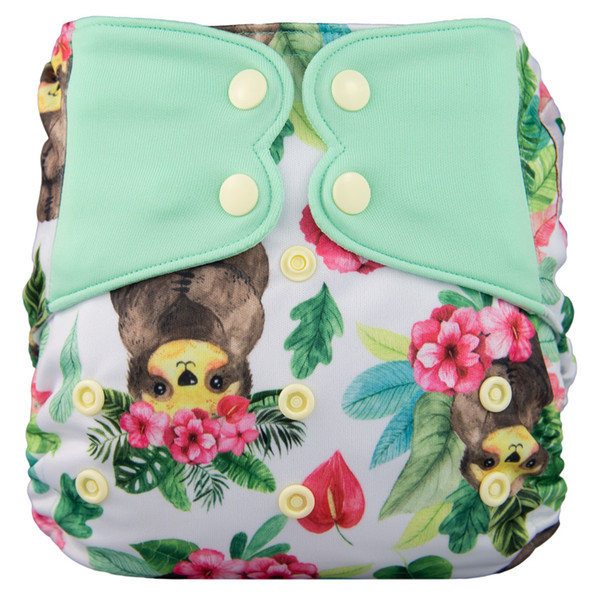 best selling Elf Diaper New AIO High Quality Diaper with Sewed in Insert Pocket Diaper Snap Cloth 1016