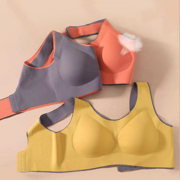 top popular Latex seamless non-wireless sports and leisure ladies bra ultra-thin 2021