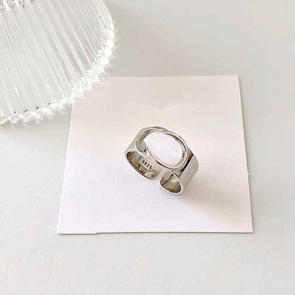 best selling 925 Silver Ring Hollow Letters Ring Simple Fashion Jewelry Hip Hop Punk Ring Party Gift Accessory Charm Jewelry