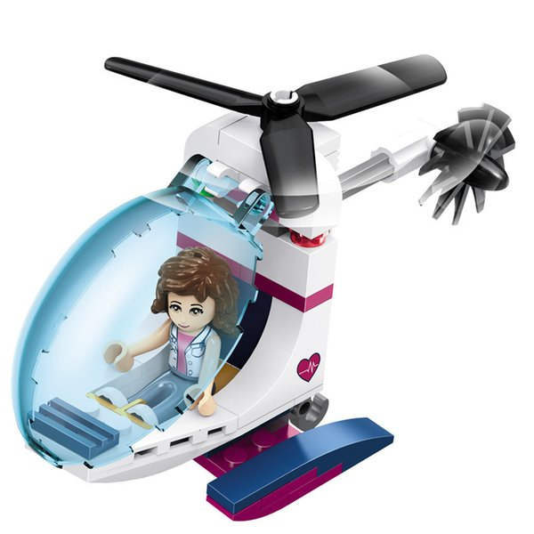 top popular 932pcs Girls Series City Love Hospital Ambulance Helicopter Building-block Toys Compatible with inglys DIY Educating Childre 2020