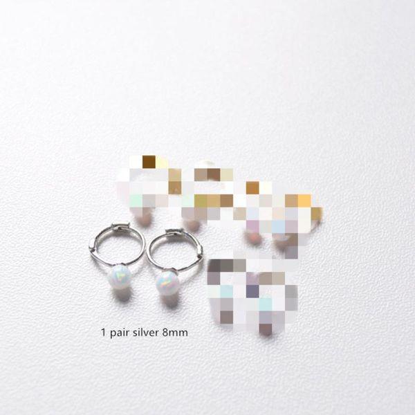 1 Paar Silber 8mm