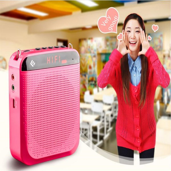 top popular Portable Mini Waistband Loudspeaker Teaching Microphone Special Amplifier for Tours Guide External Voice Loundspeaker Support U Disk TF Card 2021