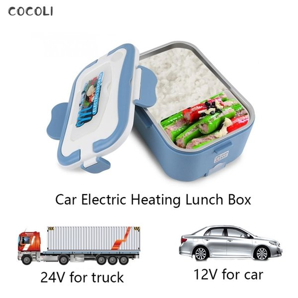 best selling 1500ML Portable 12 24 220V Car Electric Heating Lunch Box Bento Rice Food Warmer Container Kids School Office Portable Bento Box 201210