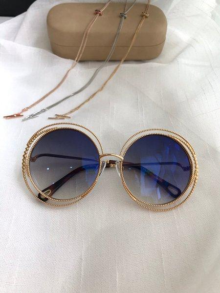 ouro lente azul