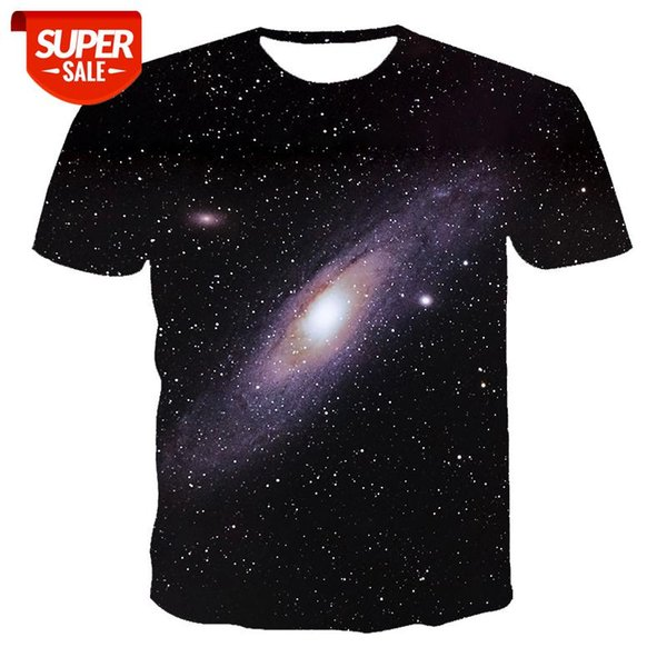 top popular New T-shirt men's high-quality men's and women's t-shirts night starry sky short sleeve 3D printing pattern handsome T-shirt #zr6v 2021