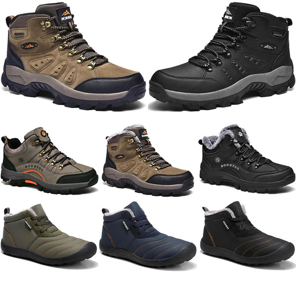 best selling New Winter leisure sport cotton shoes Mens women platform warm and velvet padded snow Outdoor lightweight high top hiking sneaker size 39-45