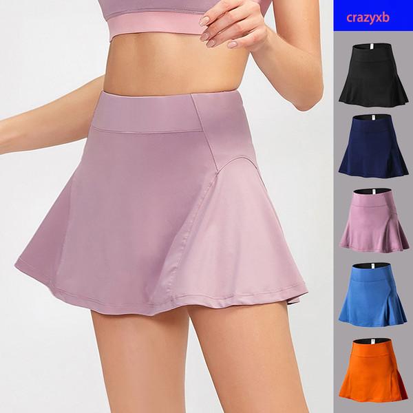 top popular Anti Exposure Tennis Skirts Mini Golf Badmintion Skirt High Waist Fitness Women Shorts Athletic Running Sports Fast Dry Sport Skort 2021