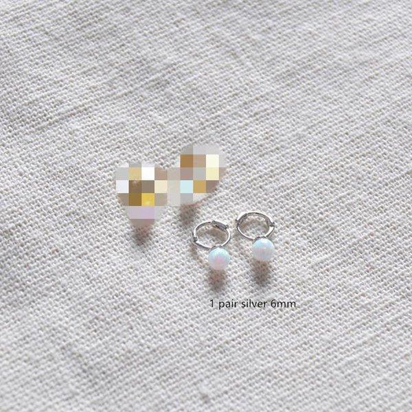 1 Paar Silber 6mm