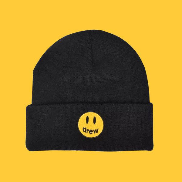 best selling Autumn Winter Hat Drew Unisex Knitted Hats Hip Hop Fashion Patterns Hat for Men and Women Winter Hat Beanie