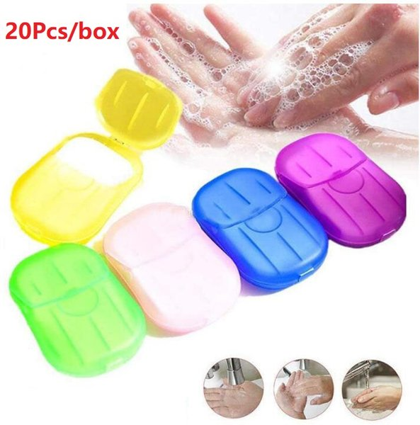 top popular Factory price! 5000lots Disposable Boxed Soap Paper Portable Aromatherapy Hand Wash Bath Travel Mini Soap Box Soap Base Bathroom Accessories 2021