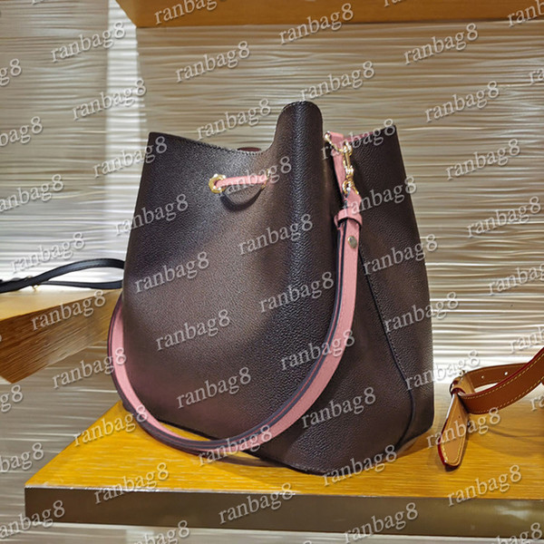 best selling 16 Colors Women's Bucket Shoulder Bags escale neonoe Crossbody Bag Genuine Leather Handbags Adjustable Strap New Fashion Bags