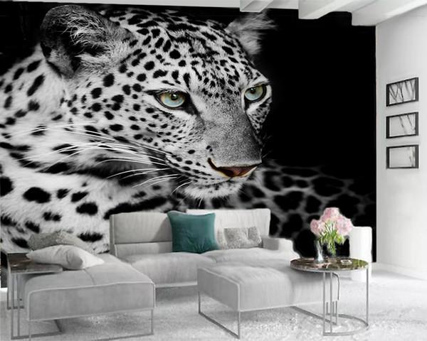 best selling Custom 3d Animal Wallpaper Modern Mural 3d Wallpaper Ferocious Spotted Tiger 3d Wall Paper for Living Room Custom Photo