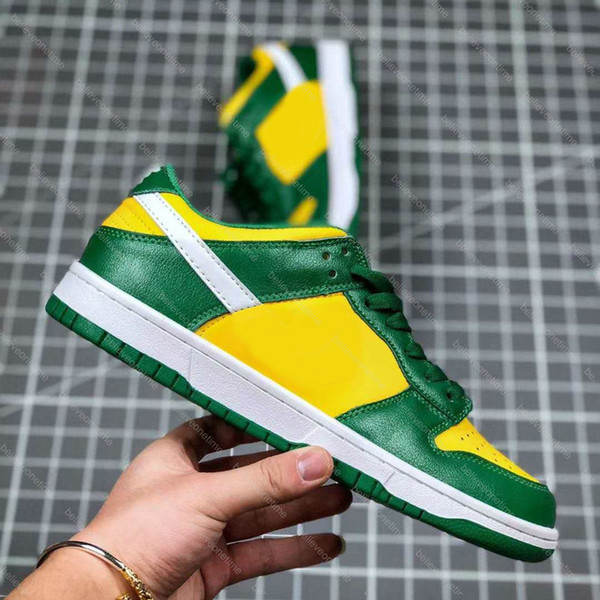 best selling New Dunk SB Low SP Brazil Green Yellow White CU1727-700 Men Women Running Shoes Chunky Dunky University Champ Colors Basketball Sneakers