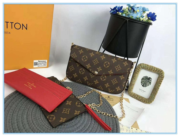 best selling M61276 High quality woman luxurys designers fashion crossbody bags wallet backpack handbags purses card holder bags shoulder tote 3pcs box