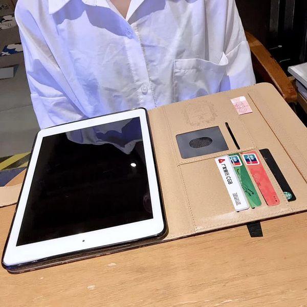 For 2020 ipad pro 11 High-grade Tablet Case for ipad Air10.5 Air1 2 mini45 ipad10.2 ipad56 Designer Fashion Leather Card Pocket ipad Case