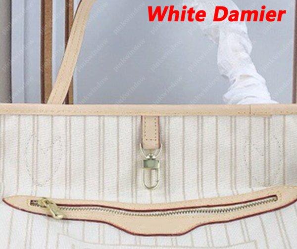 Weiß Damier Beige Innen