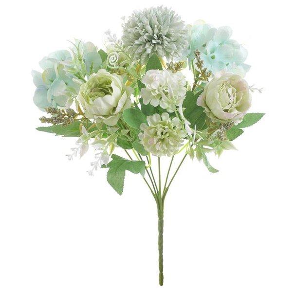 Peonía blanca-verde