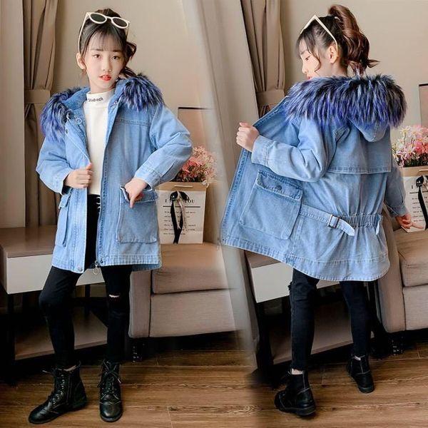 best selling 2020 girls down hoodie kids doudoune winter coat dress jacket s costume  sweater sweater coat 004