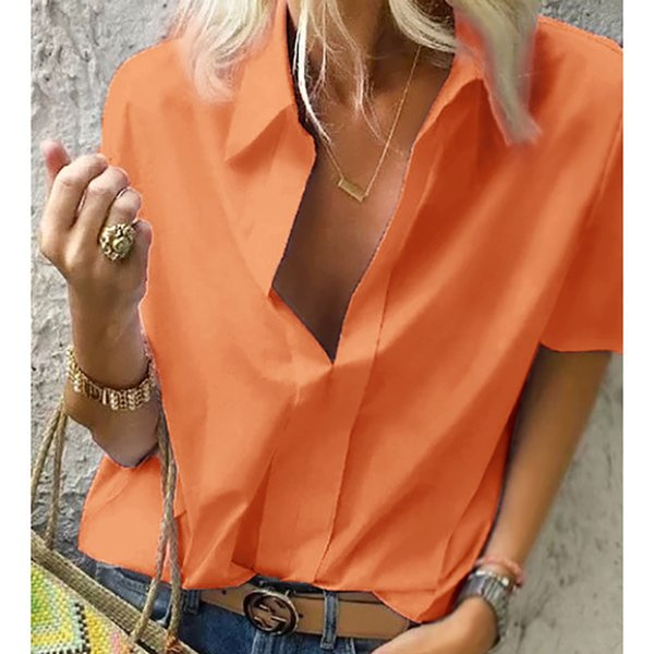 Orange-short Sleeve