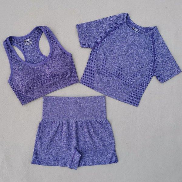 Purple 3 Pcs Set
