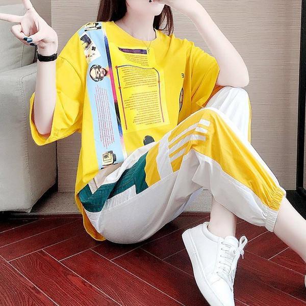 Yellow Short Sleeve + K91 Hosen Weiß