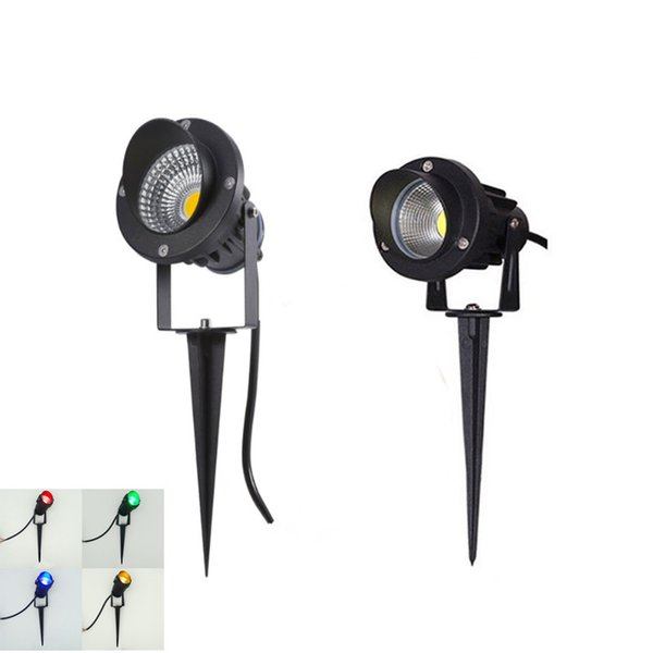 top popular LED COB Garden lighting 3W 5W 12W Outdoor Spike Lawn Lamp Waterproof Lighting Led Light Garden Path Spotlights AC220V DC12V C1004 2021