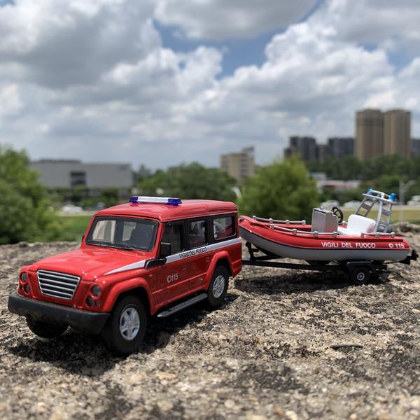 best selling 1:43 alloy off-road vehicle speedboat trailer model car powerboat