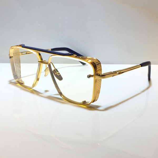 gold blue clear lens (NO.1)
