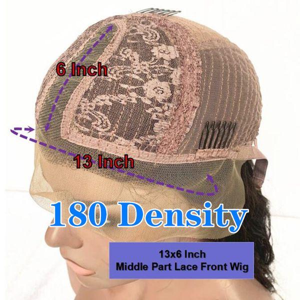 180 Densidad 13x6 Parte peluca Medio