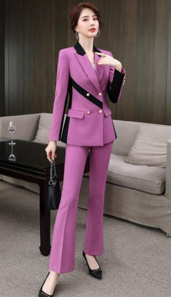 Purple coat pants