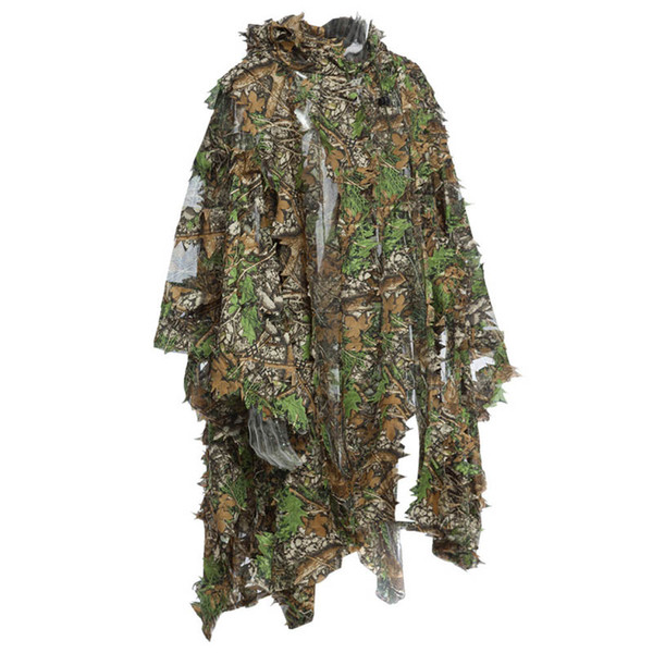 best selling Outdoor Sports Shooting Combat Clothes Birding Suit Camo Bionic Leaf Sniper Camouflage Clothing Tactical Leafy Poncho Ghillie Suit P05-301
