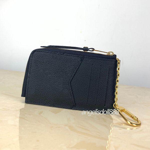 Women Zippy Wallets credit card holder coin purse pouch borsa genuine leather Empreinte Recto Verso portefeuille top 7A quality Men Wallet