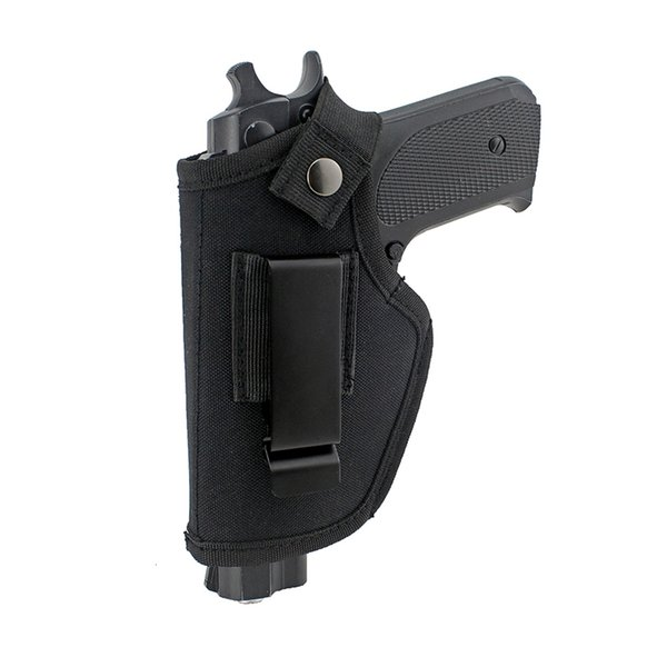 top popular Tactical New Nylon Holster Concealed Gun Carry Airsoft Shooting Gun Holster Belt Waist Pouch Fit Most Of Pistols Hunting Accessories 2021