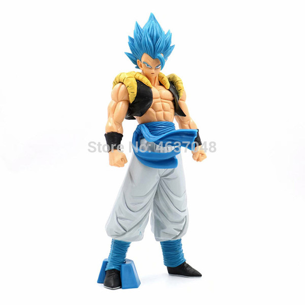 top popular Anime Z Gogeta Action Figures Super Saiyan Grandista Blue Gogeta Toys Model PVC Collectible ROS Doll 1008 2021